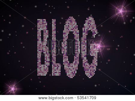 3D Graphic Of A Glowing Blog Symbol Of Glamour Stars