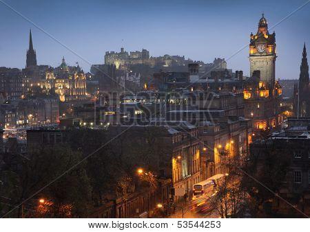 Edinburgh Cityscape from Calton Hill, Scotland