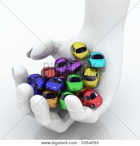 Handful Of Cartoon Cars