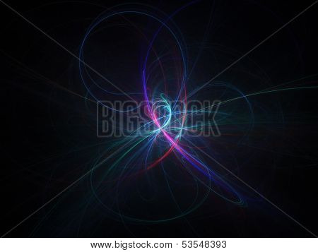 Colorful Curve Cross Rays