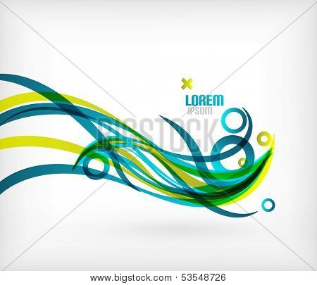 Blue abstract wave lines minimal design