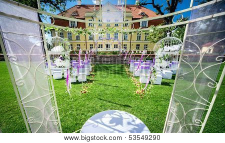 Wedding Ceremony At Manor House In Malpils Manor, Latvia
