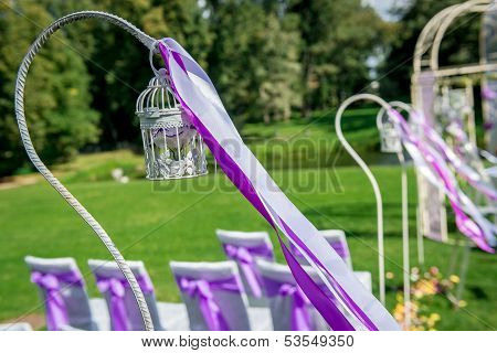 Wedding ceremony outdoors.