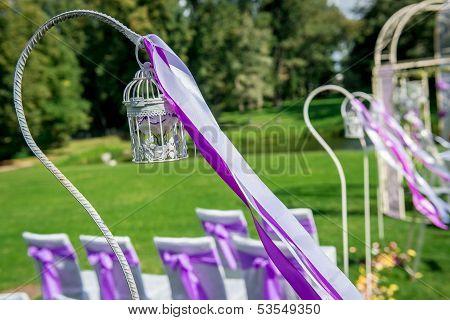 Wedding ceremony outdoors.