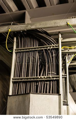 Black Cables In Cable Tray