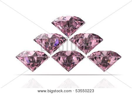 Pink Diamond Stone (high Resolution 3D Image)