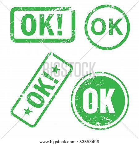 Ok Vector Stamp
