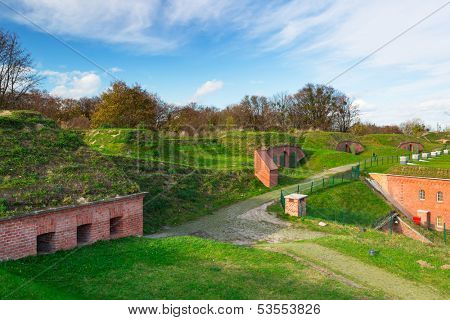 XIX century city fortification system in Gdansk, Poland