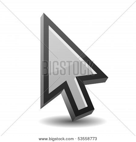 Arrow pointer isolated on white