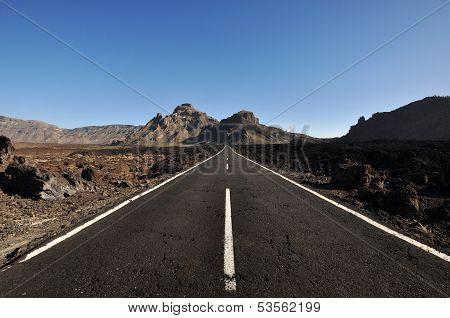 Road In Parque Nacional Del Teide