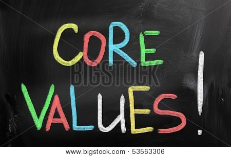 Core Values Concept