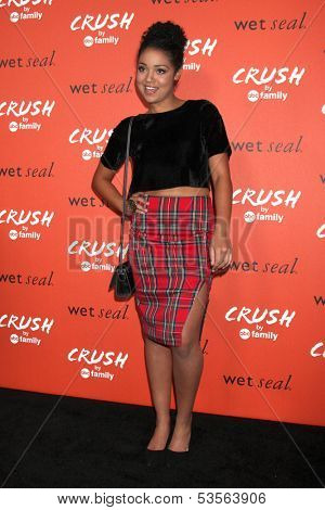 LOS ANGELES - NOV 6:  Aisha Dee at the CRUSH by ABC Family Clothing Line Launch at London Hotel on November 6, 2013 in West Hollywood, CA