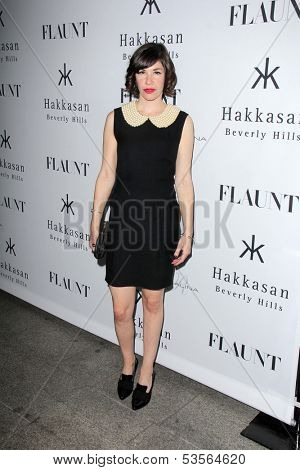 LOS ANGELES - NOV 7:  Carrie Brownstein at the Flaunt Magazine November Issue Party at Hakkasan on November 7, 2013 in Beverly Hills, CA\