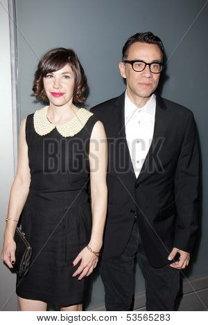 LOS ANGELES - NOV 7:  Carrie Brownstein, Fred Armisen at the Flaunt Magazine November Issue Party at Hakkasan on November 7, 2013 in Beverly Hills, CA