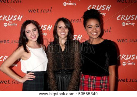 LOS ANGELES - NOV 6:  Haley Ramm, Italia Ricci, Aisha Dee at the CRUSH by ABC Family Clothing Line Launch at London Hotel on November 6, 2013 in West Hollywood, CA