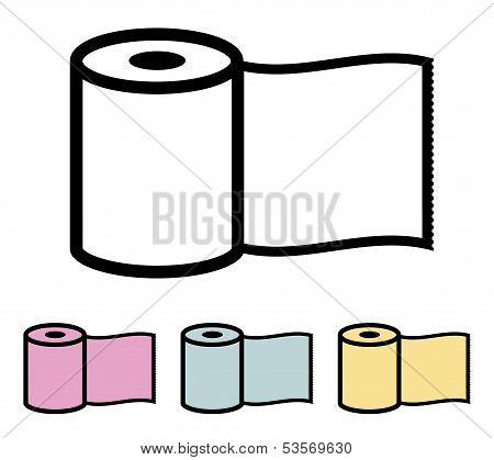 Toilet paper roll. Vector illustration.