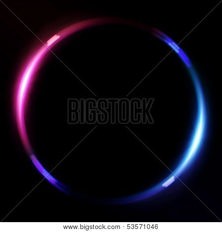 Ring Lens Flare Red Blue