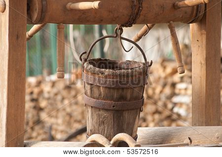 Wooden Basket Of The Water Weel