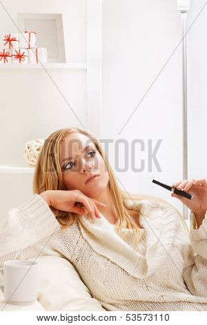 young beauty girl with e-cigarette