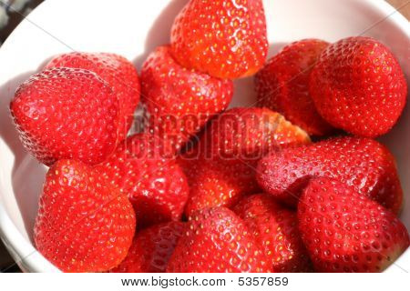 Red And Fresh Strawberry