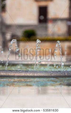 Fountain Pipe In Makarska