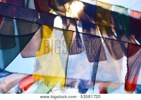 Colorful Buddhist Prayer Flags Lung-ta