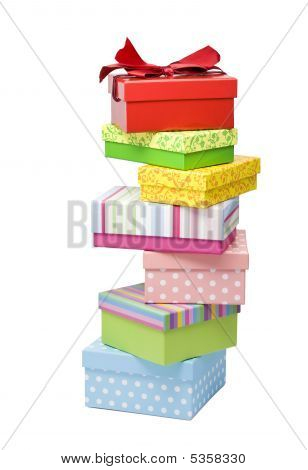 Irregularly Stacked Gift Boxes