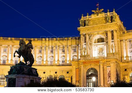 Hofburg Palace By Night, Vienna