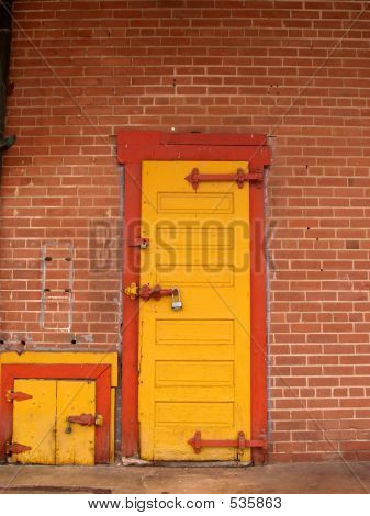 Yellow Doors Red Trim 2