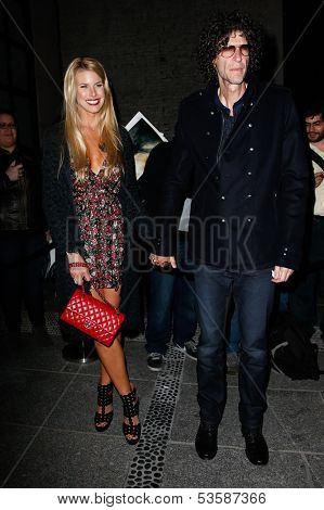 NEW YORK- NOV 6: Model Beth Ostrowsky and Howard Stern attend a screening of 'Thor' at the Crosby Street Hotel on November 6, 2013 in New York City.