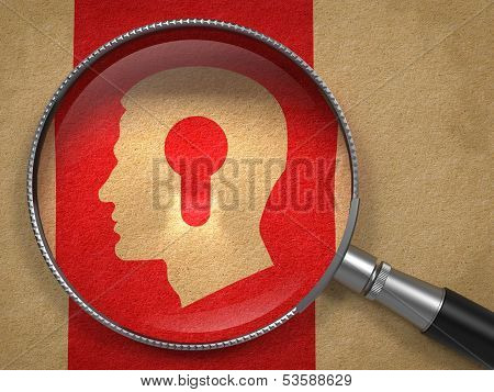 Magnifying Glass with Psychological Concept.