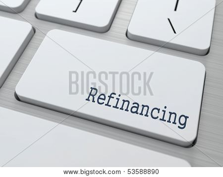 White Keyboard with Refinancing Button.