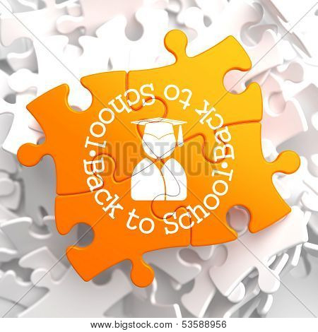 Back to School on Orange Puzzle.