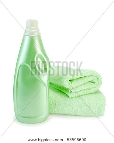 Fabric Softener And Towel Green