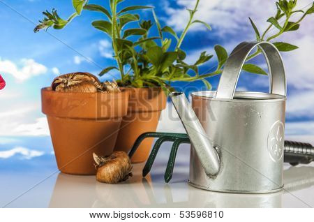 Gardening equipment with rural climate