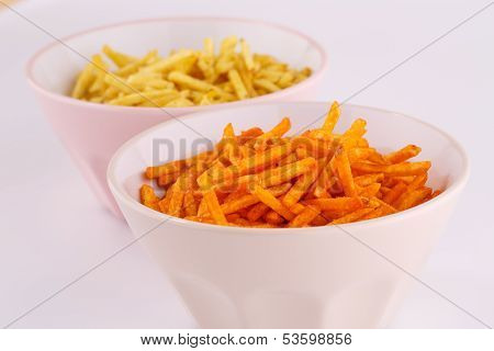 Potato Chips In Bowls