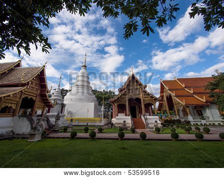 Wat Phra Singh Temples in Chiang Mai, Thailand