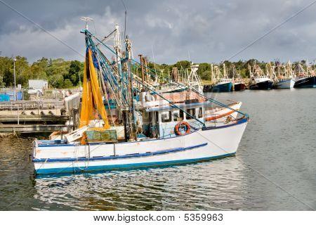 Fishing Trawlers Moored At Docks