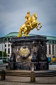 The golden monument to Augustus II the Strong