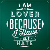 image of hate  - Quote Typographic Background  - JPG
