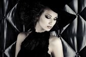 stock photo of sorcery  - Portrait of an enchanting witch woman - JPG