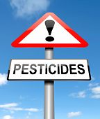 stock photo of pesticide  - Illustration depicting a sign with a pesticides concept - JPG