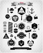stock photo of anchor  - Hipster style elements - JPG