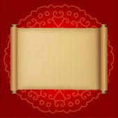 Ancient chinese scroll with space for your greeting text. Suitable for promotional item design durin