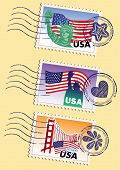 picture of liberte  - Country stamps icon collection set illustration style - JPG