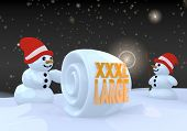 Two Snowman With Xl Symbol
