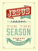 pic of jesus sign  - Vintage Retro Christmas Typographical Background With Label - JPG
