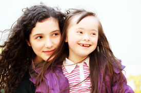 picture of playgroup  - Portrait of the beautiful young girls smiling - JPG