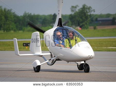 Calidus Gyroplane On Waterloo Airshow, Ontario, Canada