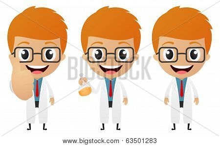 young scientist cartoon